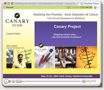 Canary Fund - Realizing the Promise Early Detection of Cancer Symposium and Workshop